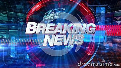 Notícias de última hora - título gráfico 4K da animação da transmissão