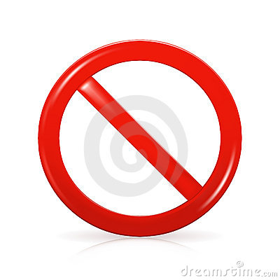 Free Not Allowed Sign Stock Images - 13368344