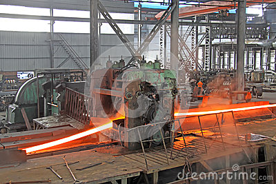 Not equal sides Angle steel in a production line
