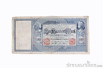 Nota de banco alemão velha