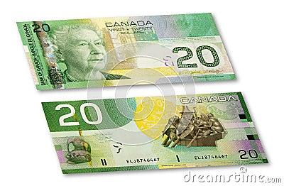 Nota de banco canadense