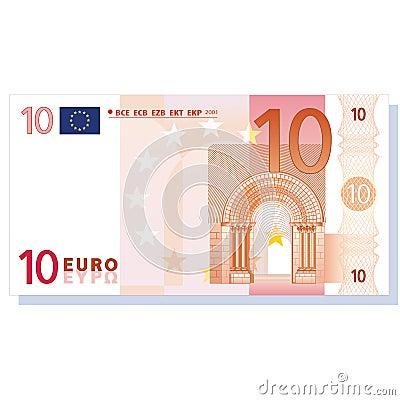 Nota de banco do euro 10