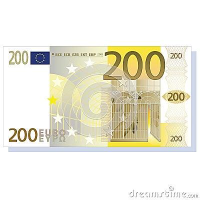 Nota de banco do euro 200