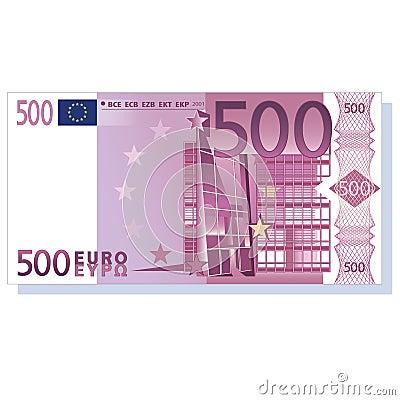 Nota de banco do euro 500
