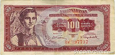 Nota de banco velha