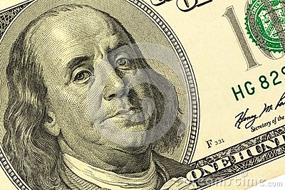 Nota de dólar, Benjamin Franklin