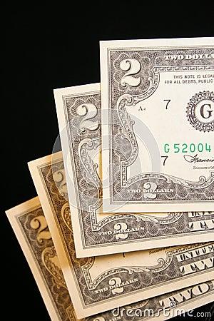 Nota de dólar dois