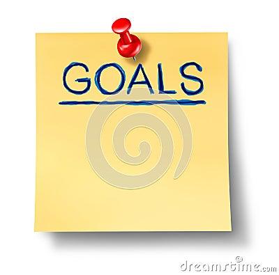 Nota de la oficina de las hojas de operación (planning) de la estrategia de las metas aislada