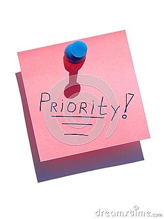 Nota de la prioridad