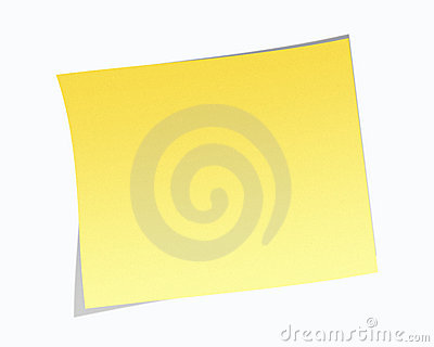 Nota de post-it em branco