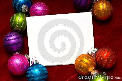 Nota-Tarjeta de la bola de la Navidad