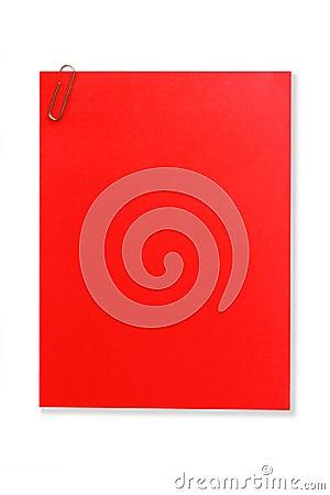 Nota vermelha em branco