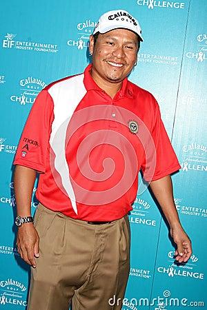 Notah Begay no desafio da fundação do golfe de Callaway que beneficia programas de investigação do cancro da fundação do industria Imagem Editorial