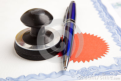 Notary public ink stamp