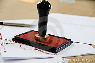 Notary public stamper