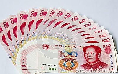 Notas chinas del dinero en circulación