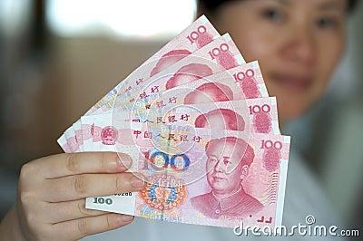 Notas da moeda. RMB