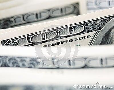 $100 notas de dólar