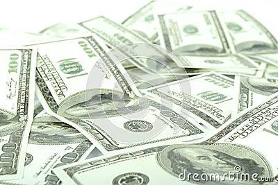 100 notas de dólar