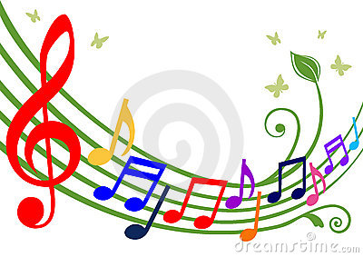 Notas musicais coloridas