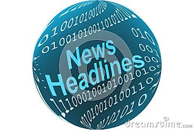 A notícia headlines a tecla
