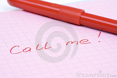 Note call me