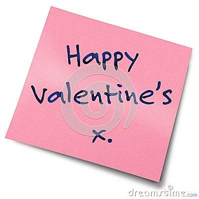 Note de post-it de Valentines