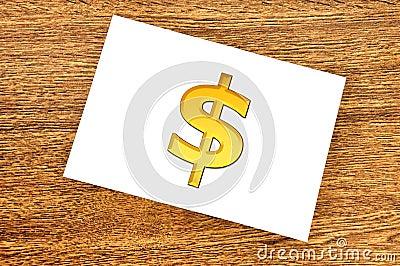 Note dollar symbol
