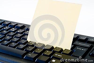 Note on keyboard