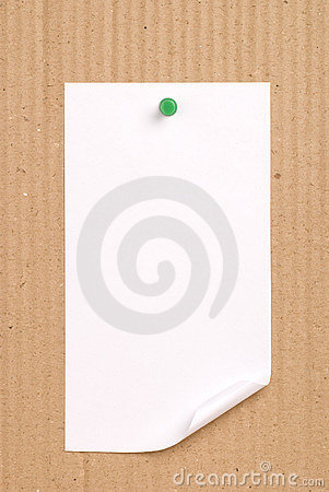 Note Pad On Cardboard