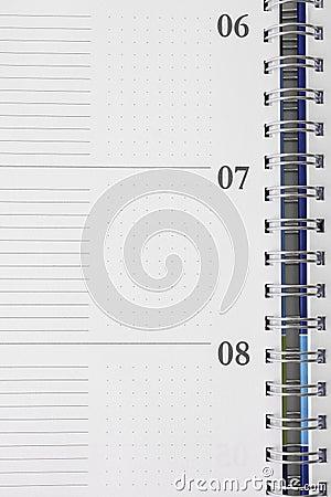 Note pad detail