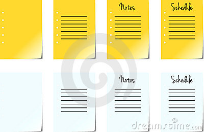 Note Pad Pages