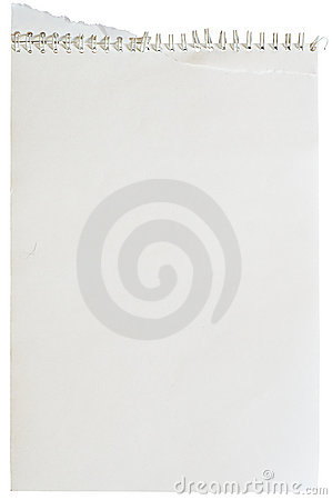 Note pad with spiral binding