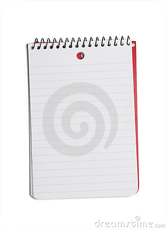 Note Pad on White
