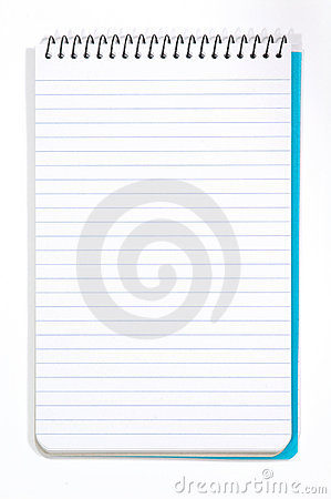 Note Pad With White Pages