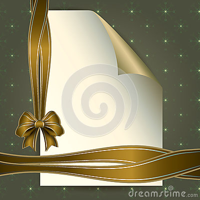 Note paper and beautiful bow for your message