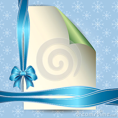 Note paper and bow for your message