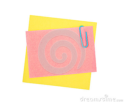 Note paper and clip