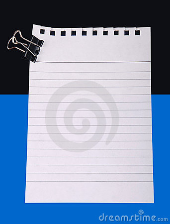 Note paper with clip