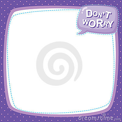 Note paper - don t worry