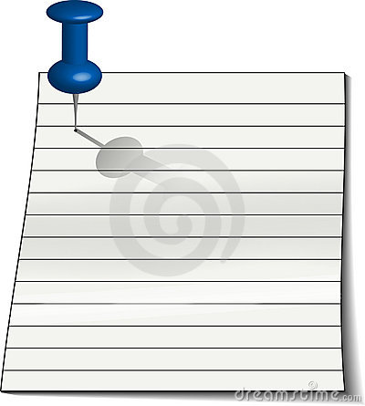 Note paper with Tack