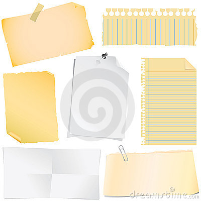 Free Note Paper Vector Stock Photo - 4972830