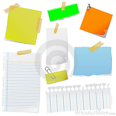 Free Note Paper Vector Stock Images - 5876214