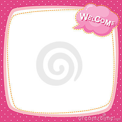 Note paper - welcome