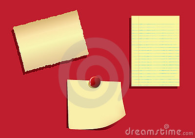Note Papers -EPS Vector-