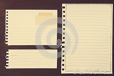 Note papers for your message