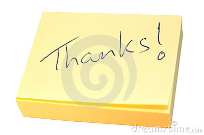 Note of thanks