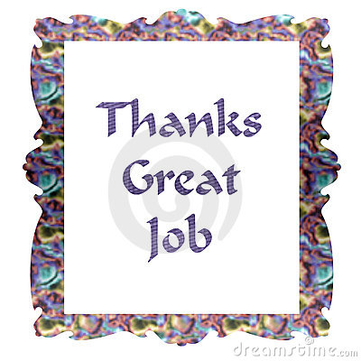 Note Of Thanks Stock Image - Image: 3495521