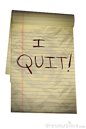 Note to Boss, I Quit