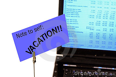 Note to self:  VACATION!!